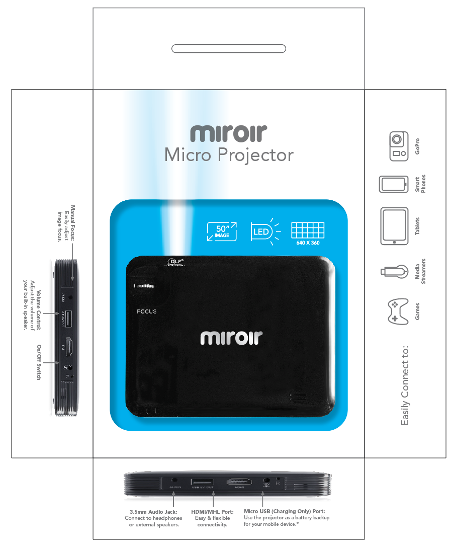 Home smarter for Miroir mp25 projector